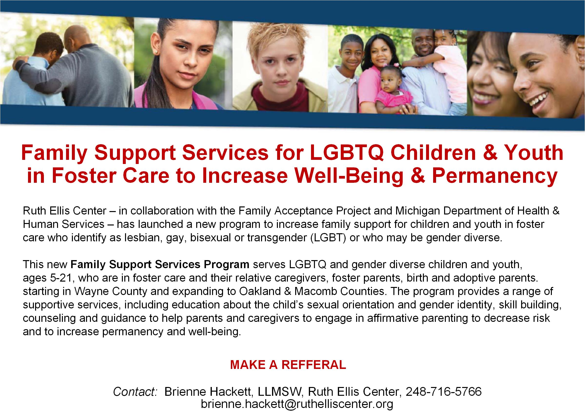 Family Acceptance Project Family-Support ServicesBrochure Foster Care  Michigan